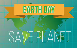 Banner day of the earth Royalty Free Stock Photos