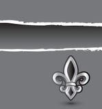 banner de灰色lis被剥去的fleur 免版税库存照片
