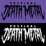 Banner for death metal music festival.. T-shirt print design royalty free illustration