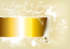 Banner decorated by ornament with space for text Stock Photo