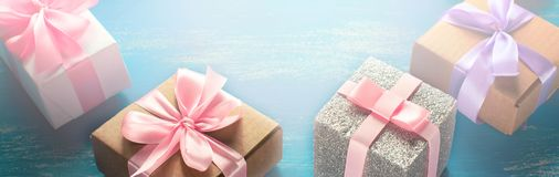 Banner Decorative box for the holiday. Stock Images