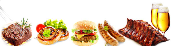 Banner with delicious bar lunches Stock Images