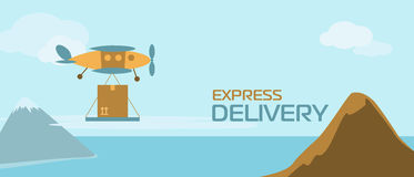Banner of delivery Royalty Free Stock Photography