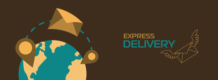 Banner of delivery Royalty Free Stock Photos