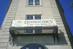 Banner: �Democracy if we can keep it Royalty Free Stock Image