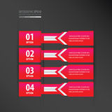 Banner design arrow style    neon pink Royalty Free Stock Photo