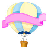 Banner design with balloon in background Royalty Free Stock Image