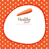 Banner design with carrot and polka dot background Royalty Free Stock Photos