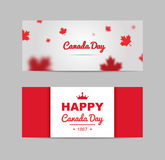 Banner of design elements for Canada Day 1st of July. Stock Photography