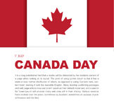 Banner design elements for Canada Day 1st of July. Royalty Free Stock Photo
