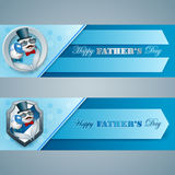Banner design for Father's day celebration Stock Image