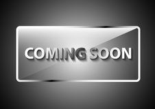 Coming soon banner promotion steel effect Stock Photos