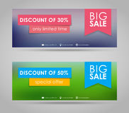 Banner design for sale Royalty Free Stock Image