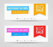 Banner design for sale Stock Photos