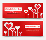 Banner design for Valentine's Day Stock Photo
