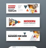 Banner design vector abstract geometric design banner web template. vector illustration