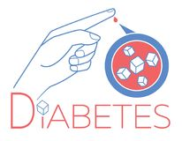 Banner diabetes blood sugar Royalty Free Stock Images