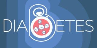 Banner of diabetes diagnosis Stock Image