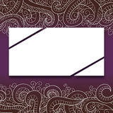 Banner with doddle pattern Royalty Free Stock Photo