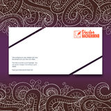 Banner with doddle pattern Stock Photography