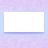 Banner with doddle pattern Royalty Free Stock Photography