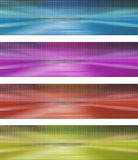 Banner with dots and mirorred relfections Stock Images