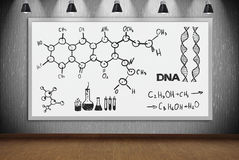 Banner with drawing chemical scheme Royalty Free Stock Photos
