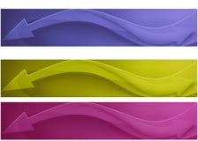 Banner drie Royalty-vrije Stock Foto