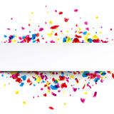 Banner with drops. Stock Photography