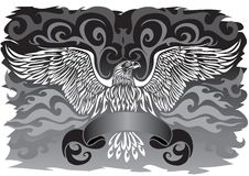 Banner with an eagle Stock Photos