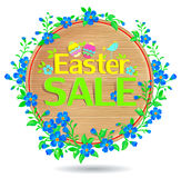 Banner Easter sale wooden royalty free stock photo