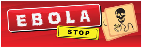 Banner Ebola Stock Images