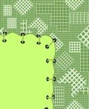 Banner - een flard op een materiaal in een sectie Stock Afbeeldingen