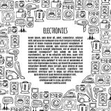 Banner electronics  design illustration. Royalty Free Stock Photography