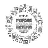 Banner electronics  design illustration. Stock Photo