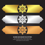 Banner en Kopbal Thais Patroon Stock Afbeeldingen