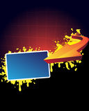 Banner en pijl Royalty-vrije Stock Afbeelding