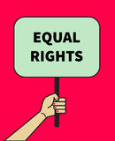 Banner of equal rights Royalty Free Stock Photo