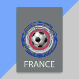 Banner for Euro 2016 World FIFA championship Stock Photo