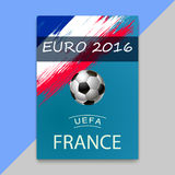 Banner for Euro 2016 World FIFA championship Royalty Free Stock Photos