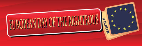 Banner European Day of the Righteous Royalty Free Stock Image