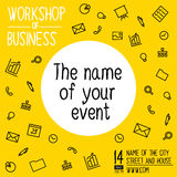 The banner for the event. Royalty Free Stock Photos