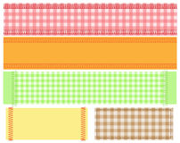 Banner of  fabric. Sewing fabric banner. vector illustration Stock Photography