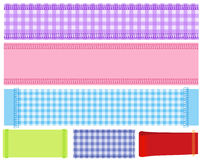Banner of  fabric Stock Images