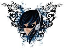 Banner Face vector illustration