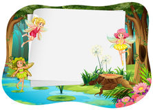 Banner and fairy Royalty Free Stock Photo