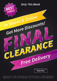 Banner Final Clearance vertical vector illustration Stock Images