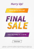 Banner Final Sale vector illustration Stock Photography