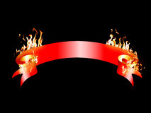 Banner on Fire Royalty Free Stock Photography