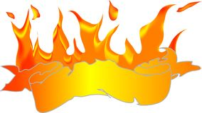Banner with fire Royalty Free Stock Images